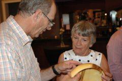 Wood artist John Franklin with Gwen McCann